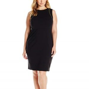 New Calvin Klein Black Sheath Dress 22W